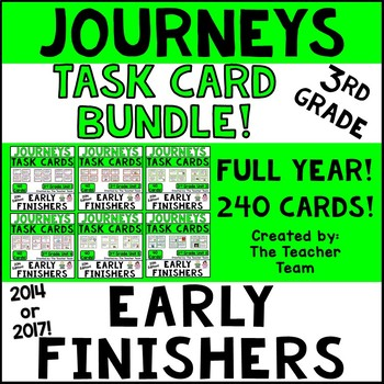 Journeys 3rd Grade Units 1-6 Full Year Task Cards Supplemental Activities 2014