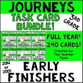 Journeys 3rd Grade Early Finishers Task Cards Bundle | 2014 or 2017