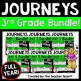 Journeys 3rd Grade Units 1-6 Full Year Bundle Supplemental Materials CC 2014