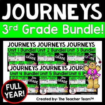 Journeys 3rd Grade Units 1-6 Full Year Supplemental Bundle CC 2014 or 2017