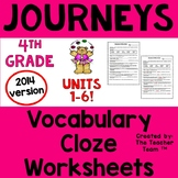 Journeys 4th Grade CLOZE Worksheets Full Year | 2014
