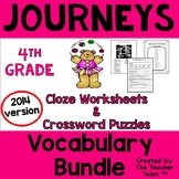 Journeys 4th Grade Vocabulary Activities Year Bundle   2014