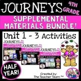 Journeys 4th Grade Unit 1 - Unit 3 Printables Bundle | 2014 or 2017
