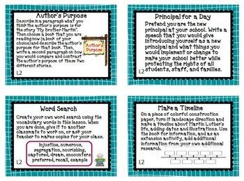 Journeys 4th Grade Unit 1 Task Cards Supplemental Materials CC 2014