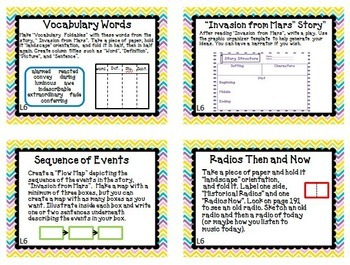 Journeys 4th Grade Unit 2 Task Cards Supplemental Materials CC 2014