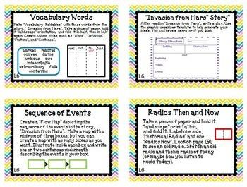 Journeys 4th Grade Unit 2 Task Cards Supplemental Materials CC 2014
