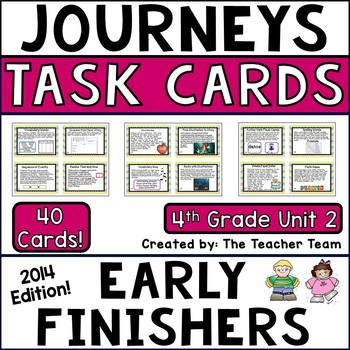 Journeys 4th Grade Unit 2 Early Finishers Task Cards 2014
