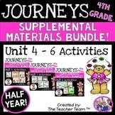Journeys 4th Grade Unit 4-6 Half Year Supplemental Activities & Printables 2014