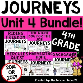 Journeys 4th Grade Unit 4 Supplemental Activities & Printables CC 2014