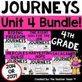 Journeys 4th Grade Unit 4 Printables Bundle   2014 or 2017