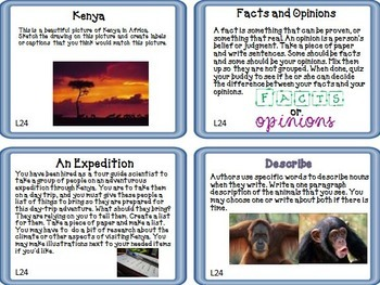 Journeys 4th Grade Unit 5 Task Cards Supplemental Materials CC 2014