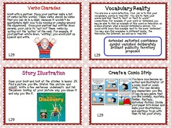 Journeys 4th Grade Unit 6 Task Cards Supplemental Materials CC 2014