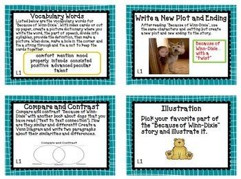 Journeys 4th Grade Units 1-6 Task Cards Supplemental Materials CC 2014
