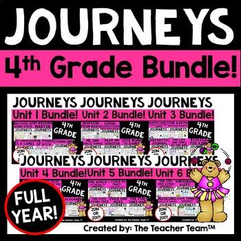 Journeys 4th Grade Units 1-6 Full Year Supplemental Bundle CC 2014 or 2017