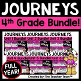 Journeys 4th Grade Unit 1 - Unit 6 Full Year Bundle | 2014 or 2017
