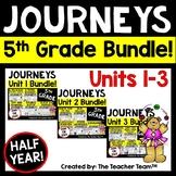 Journeys 5th Grade Unit 1-3 Half Year Bundle Supplemental Materials 2014 or 2017