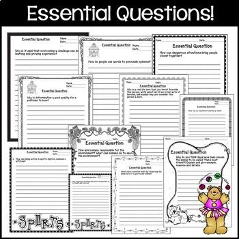 Journeys 5th Grade Unit 1-6 Full Year Bundle Supplemental Materials CC 2014