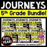 Journeys 5th Grade Unit 1-6 Full Year Bundle Supplemental Materials 2014 or 2017
