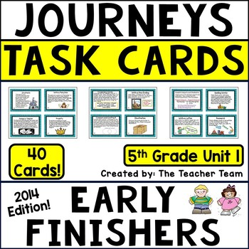 Journeys 5th Grade Unit 1 Task Cards Supplemental Materials CC 2014