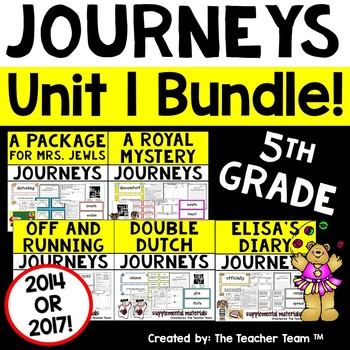 Journeys 5th Grade Unit 1 Supplemental Activities & Printables CC 2014