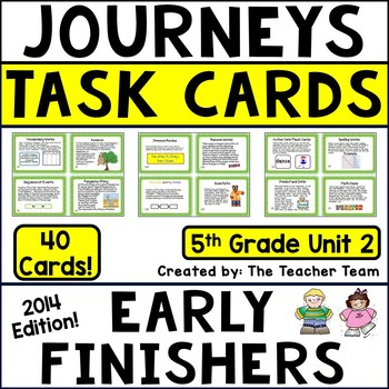Journeys 5th Grade Unit 2 Task Cards Supplemental Materials CC 2014