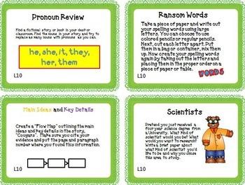 Journeys 5th Grade Unit 2 Task Cards Supplemental Materials CC 2014
