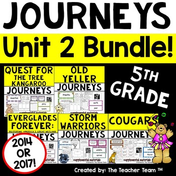 Journeys 5th Grade Unit 2 Supplemental Materials 2014