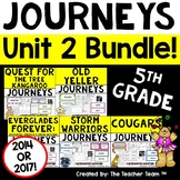 Journeys 5th Grade Unit 2 Supplemental Activities & Printables CC  2014 or 2017
