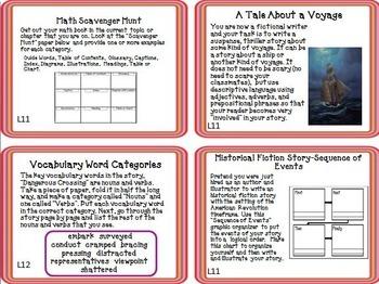 Journeys 5th Grade Unit 3 Task Cards Supplemental Materials CC 2014