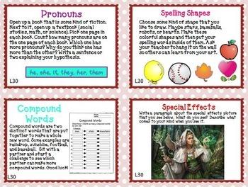 Journeys 5th Grade Unit 6 Task Cards Supplemental Materials CC 2014