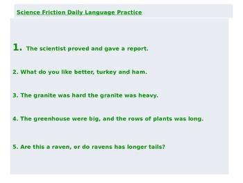 Journeys Common Core 6th Grade Daily Language Practice: Unit 2 Power Point
