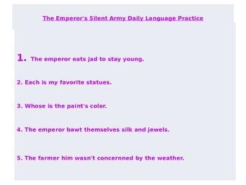 Journeys Common Core 6th Grade Daily Language Practice: Unit 4 Power Point