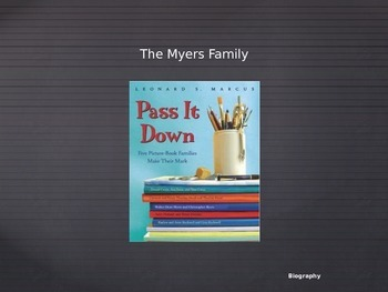 Journeys Common Core 6th Grade Reading Unit 1 Story 5: The Myers Family