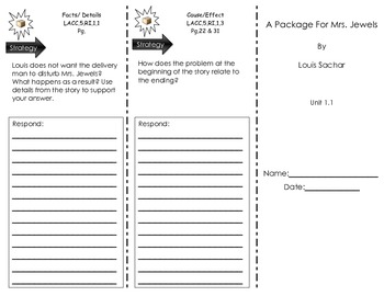 Journeys Common Core - A Package for Mrs. Jewels. Unit. 1.1 Trifold