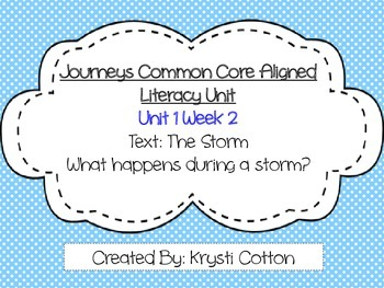 Journeys Common Core Aligned Literacy Unit Unit 1 Week 2--First Grade 1