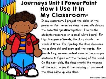 Journeys Common Core Edition 2nd Grade Unit 1 PowerPoints