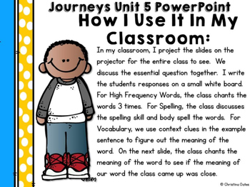 Journeys Common Core Edition 2nd Grade Unit 5 PowerPoints