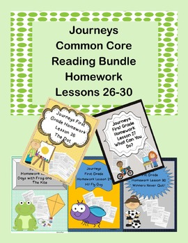 Journeys Common Core First Grade Bundle Lessons 26-30