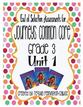 Journeys Common Core Grade 3 Assessments Unit 1 By border=