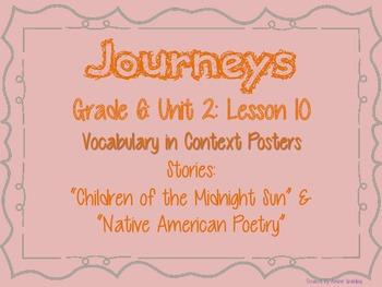 Journeys Common Core: Grade 6: Unit 2: Lesson 10 Vocabulary in Context Posters