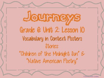 Journeys Common Core: Grade 6: Unit 2: Lesson 10 Vocabulary in Context Posters