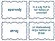 Journeys Common Core: Grade 6: Unit 2: Lesson 9 Vocabulary Match Game