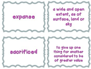 Journeys Common Core: Grade 6: Unit 3: Lesson 13 Vocabulary Match Game