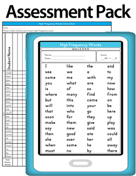 Journeys 2014 Kindergarten Common Core High Frequency - Sight Words