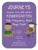 Journeys Common Core Kindergarten High Frequency Words Mega Pack!