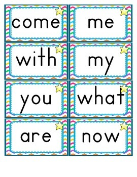 Journeys ~ Common Core ~ Sight Word Cards ~ Chevron Pattern