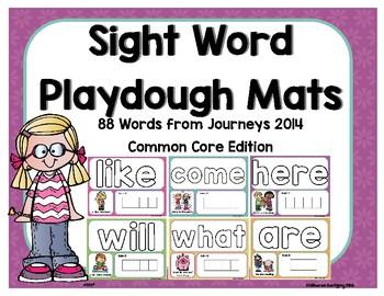 Journeys ~ Common Core ~ Sight Word Play dough Mats