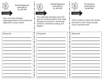 Journeys Common Core Trifold - CAN YOU MAKE THEM BEHAVE, KING GEORGE?
