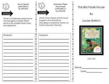 Journeys Common Core- Trifold- The Birchbark House- Houghton Mifflin