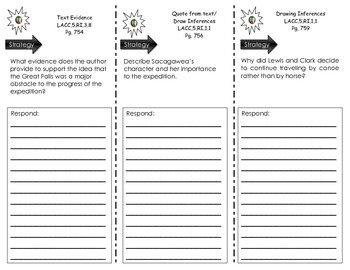 """Journeys Common Core - Trifold for """"Lewis and Clark"""" by R."""